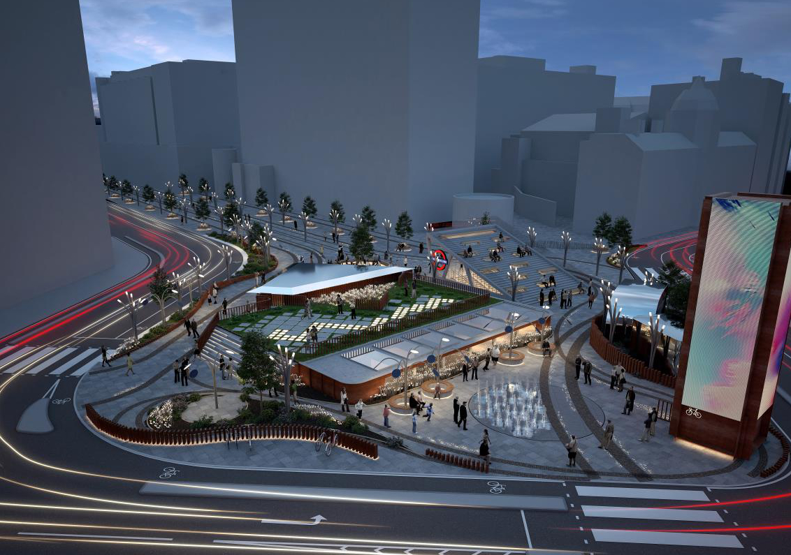 CGI of Silicon Roundabout development